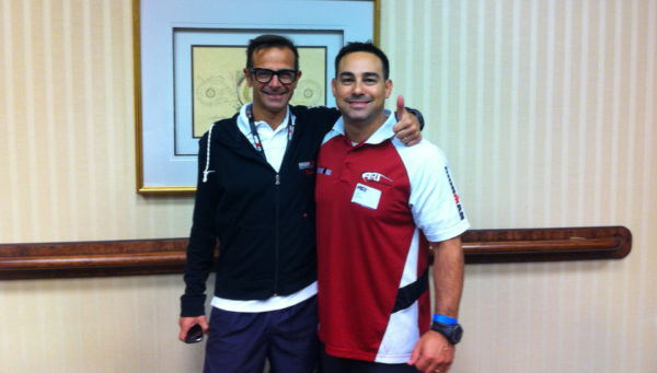 Dr. Dan with Italian Triathlete Stefano Massa.