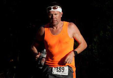 Ultramarathoner Jay M. looking fresh in his 100 miler.