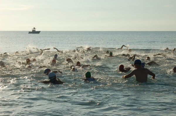 The swim portion of The Treasure Coast Challenge was moved to Jensen Beach after the Indian River was polluted by Okeechobee runoff.