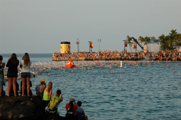 The swim start at Ironman World Championship 2013