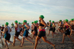 Florida Traithlon Swim Start
